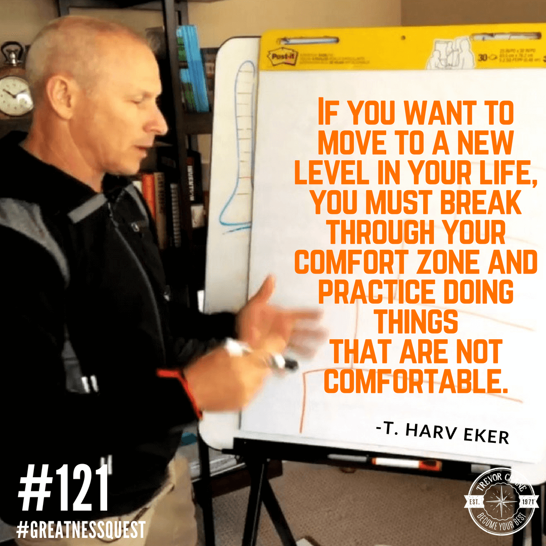 If you want to move to a new level in your life, you must break through your comfort  zone and practice doing things that are not comfortable