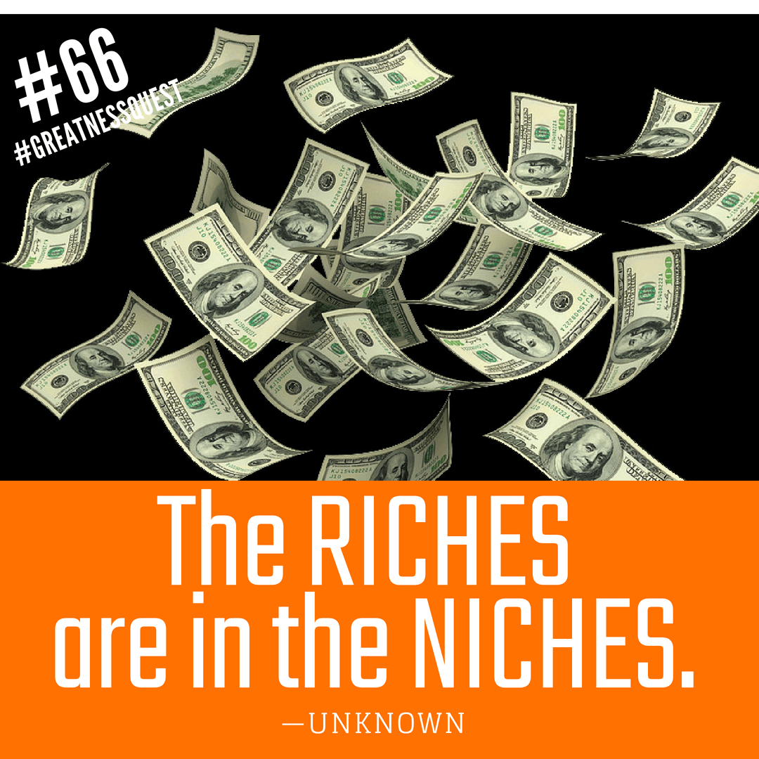 The riches are in the niches.