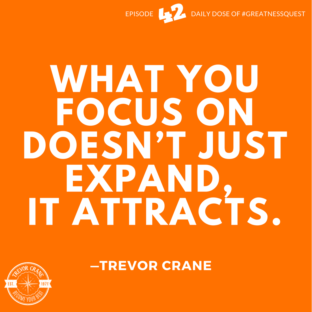 What you focus on doesn't just expand, it attracts.
