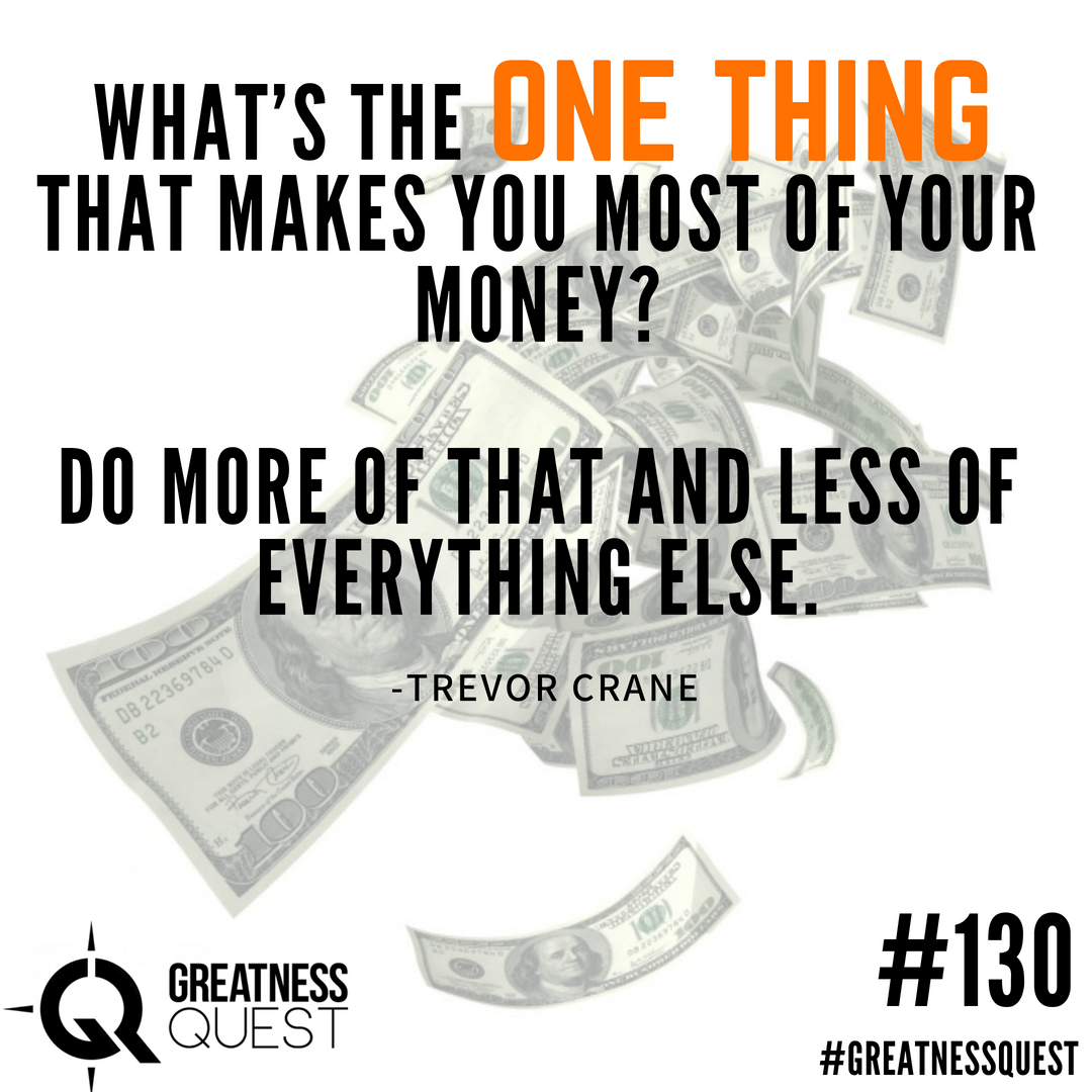 What's the one thing that makes you most of your money? Do more of that and less of everything else.