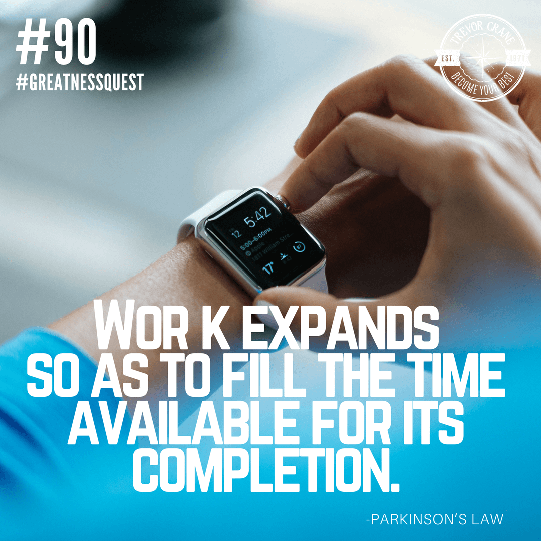 Work expands so as to fill the time available for its completion