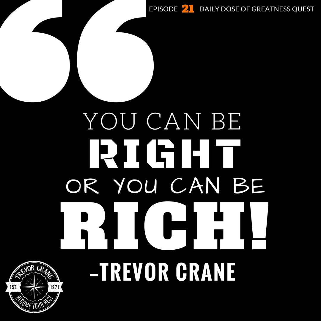 You can be ​right or you can be rich​.
