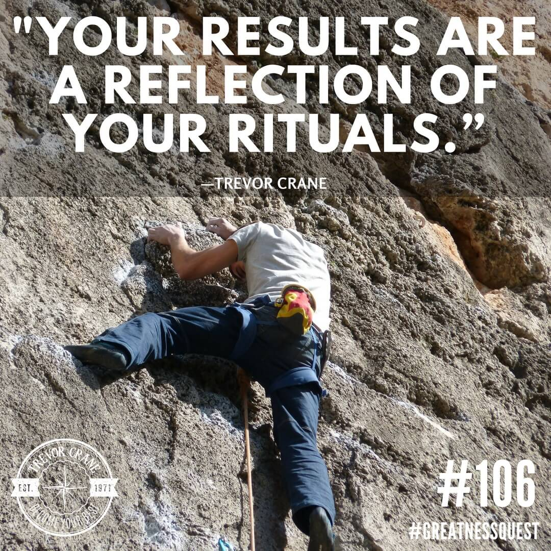 Your results are a reflection of your rituals.